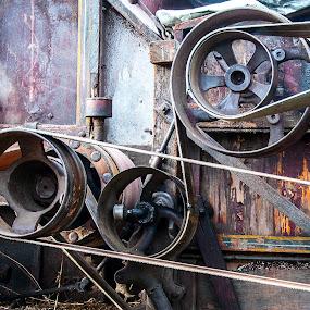 Pully Power by Carter Keith - Uncategorized All Uncategorized ( farm, pullys, farm machinery, wheels, combine, harvester,  )