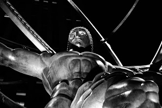 Photo: I've always had a fascination with this Atlas statue in Rockefeller Center. The statue shows Atlas holding up the world and was created by sculptor Lee Lawrie with help from Rene Paul Chambellan. The statue was installed in 1937. I've always admired this statue for it's strong Art Deco style. When I was in New York this time, I wanted to make sure I got a close up of the statue, In close you can really appreciate the detail work that makes the statue so stunning.