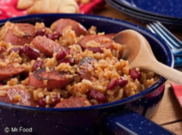 Barbequed Kielbasa & Rice Casserole