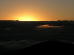 Photo: Sunrise at Tres Cruces, looking out over the Amazon. The cloud forest starts just below.