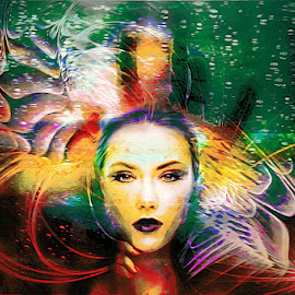 fear by Kathleen Devai - Digital Art People ( colour, fantasy, dream, woman, fear )