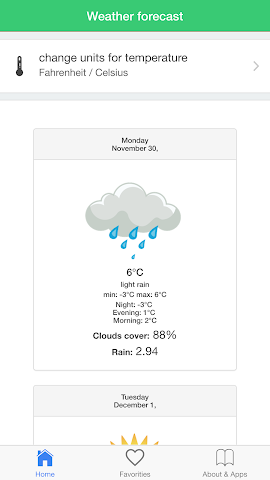 android USA météo prévisions climat Screenshot 1