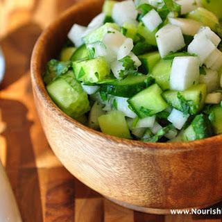 Nightshade-Free Cucumber Radish Salsa.
