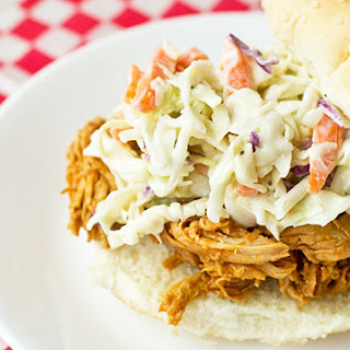 Shredded Barbecue Chicken Sandwiches.