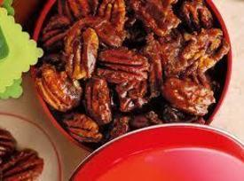 Bourbon Glazed Pecans Like Candy! Recipe
