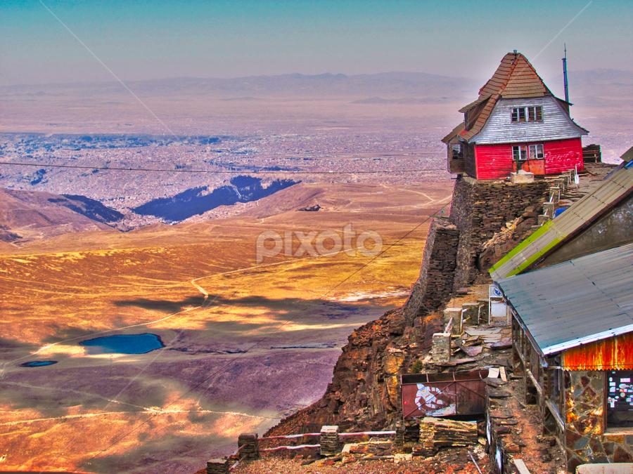 Chacaltaya sky lodge by Fabio Ferraro - Landscapes Mountains & Hills ( mountain, chacaltaya, cordillera oriental, bolivian andes, bolivia )