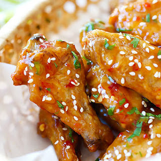 Crispy Baked Orange Chicken Wings