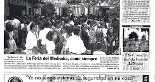 La fotografía de la portada de LA VOZ del primer sábado de Feria del año 1997.