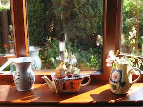 Photo: Still life of a window in our cottage on a sunny day.