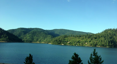 Photo: First day of our Great American road trip. Driving through Idaho. — at Lake Coeur d' Alene