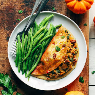 Maple Glazed Omelet Filled with Pumpkin Risotto.