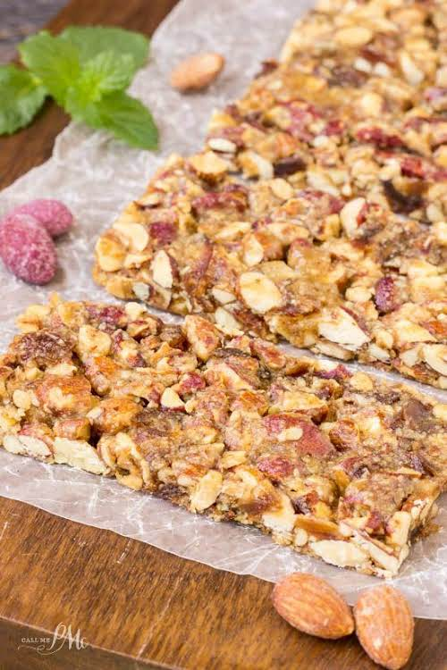 """Salted Caramel and Blueberry Almond Snack Bars """"Wholesome and filling, I love..."""