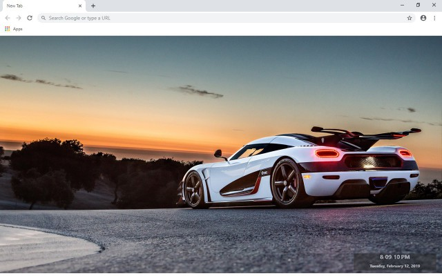 Koenigsegg One New Tab Theme