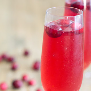 Cranberry Champagne Punch.