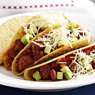 Chorizo and Kidney Bean Tacos