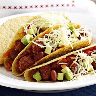 Chorizo and Kidney Bean Tacos.