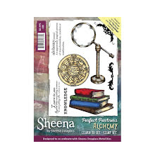 Sheena Douglass Perfect Partner Alchemy A6 Stamp Set - Learn to See UTGÅENDE