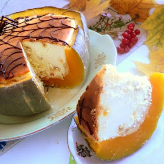 Cheesecake Baked in a Pumpkin