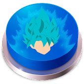 Saiyan Blue Aure Button