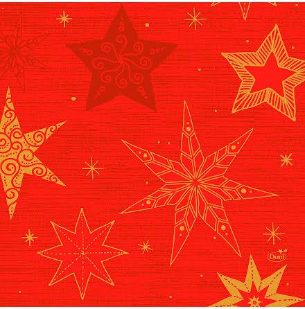 Servett stjärnor 3-lag 33x33c