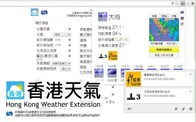 Hong Kong Weather Extension (香港天氣)