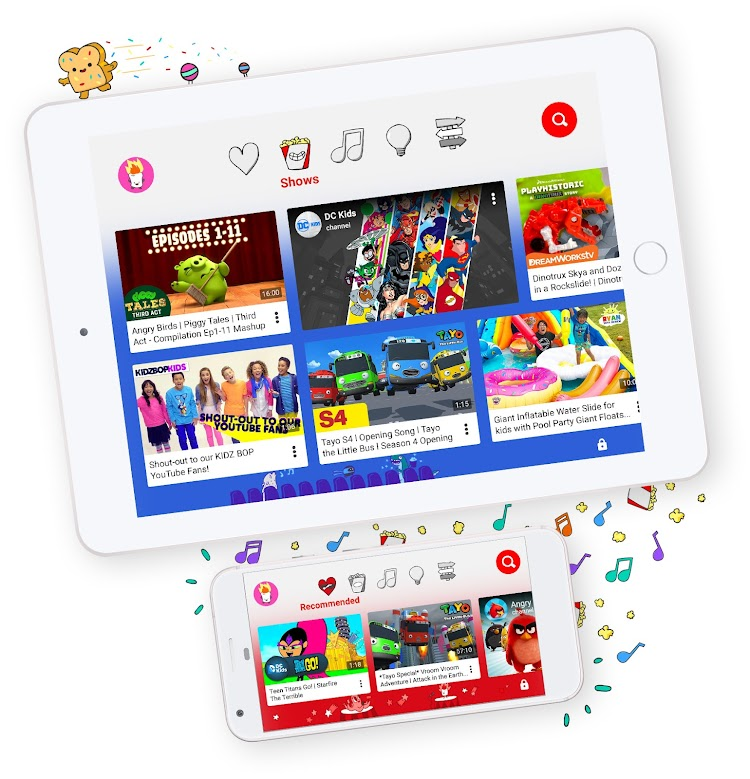 Learning through YouTube Kids App
