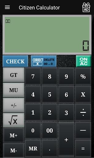 CITIZEN CALCULATOR 1.18 screenshots 1