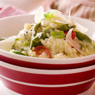 Microwave Spring Vegetable Risotto.