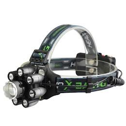 Lanterna de cap cu 8 LED si 6 faze de lumina, model BL-T85-8