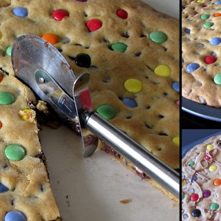 Smartie Cookie Pizza.
