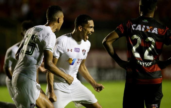 C:\Users\Carla\Desktop\Blog MULHERES EM CAMPO\Brasileiro 2018\Fluminense x Vitóri\Pablo Dyego marcou o gol de empate  Foto de Lucas Merçon.jpg