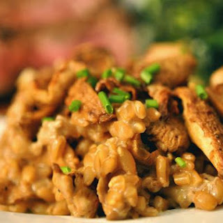 Farro With Porcini, Chanterelles & Mascarpone