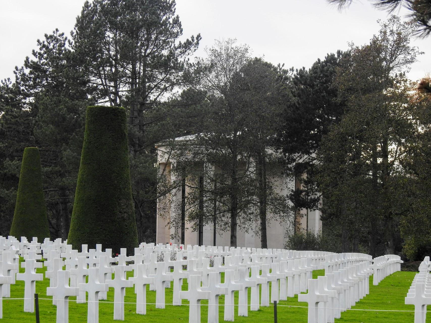 Desembarco de Normandía. Cementerio americano de Normandía