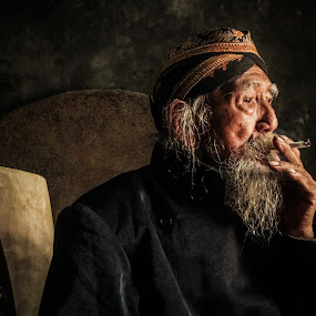 old man 2 by Tiz Brotosudarmo - People Portraits of Men (  )