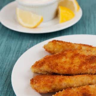 Crispy Tilapia Fingers with Lemon-Garlic Mayonnaise.