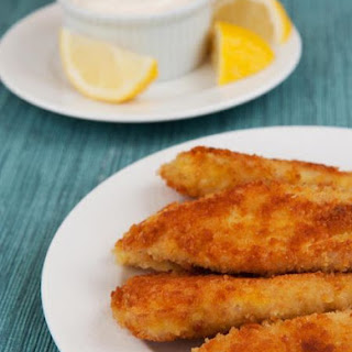 Crispy Tilapia Fingers with Lemon-Garlic Mayonnaise.
