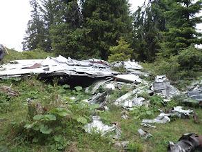 Photo: Wrak rozbitego samolotu na szczycie Slemä
