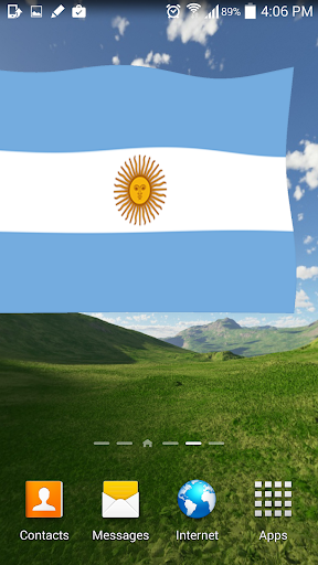 Argentina Flag Live Wallpaper