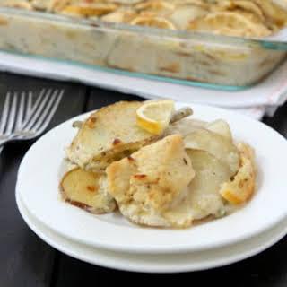 Lemon Chicken Potato Green Bean Casserole.