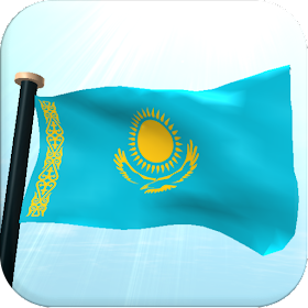 Казахстан Флаг 3D Бесплатных