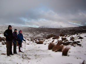 Photo: Brendan Sheils' B Walk to Knockastackeen and Lake Muskry on 18th January, 2015.  Cush Mountain in the background.  2 of 2