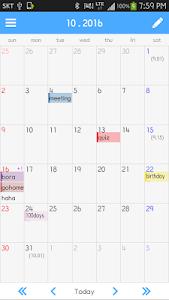 Simple Memo Calendar 1.1.0