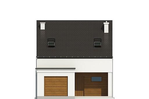 Makolągwa z garażem 1-st. A - Elewacja przednia