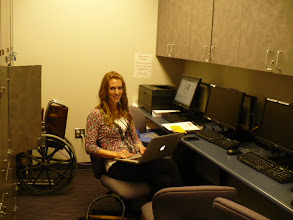 Photo: Graduate Clinician who assessed first telepractice client, 4-year-old Veronica