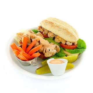 Spicy (or not) Cauliflower Po' Boy from The Easy Vegan Cookbook by Kathy Hester.