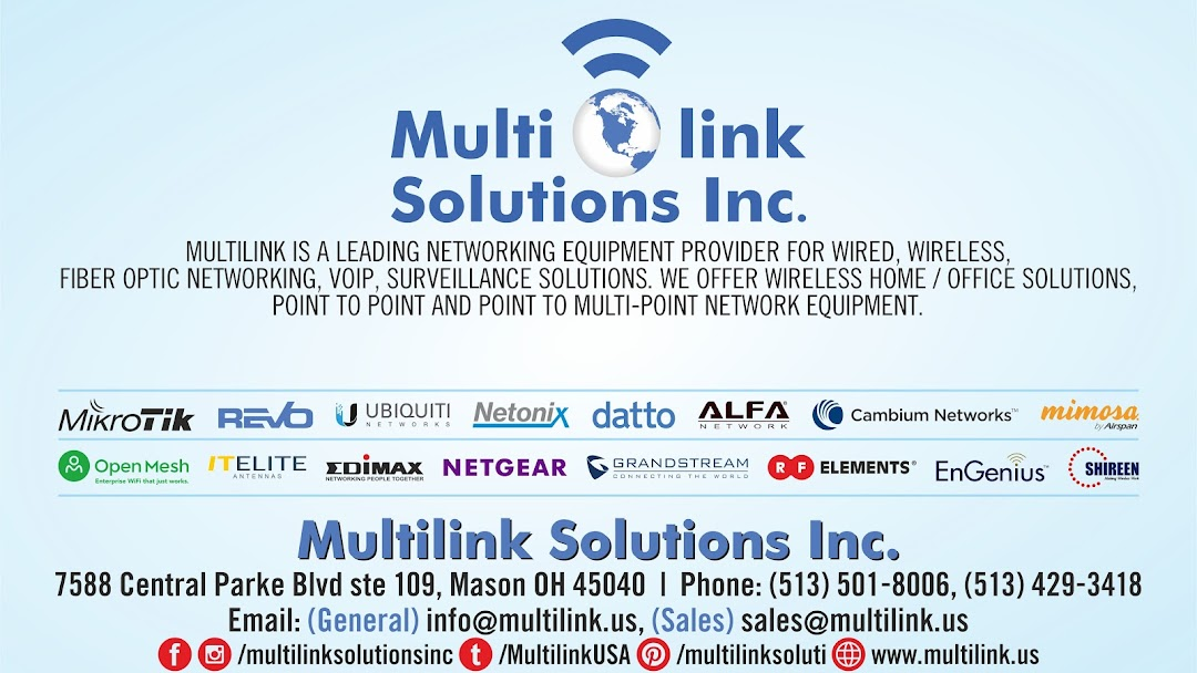 Multilink Solutions Inc  - Telecommunications Equipment