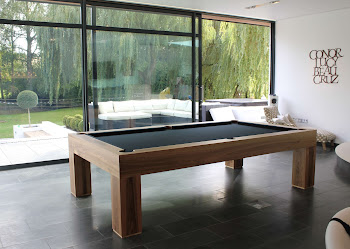 Apex Pool Table in Living Area in front of sliding doors leading to the patio