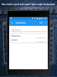 Pocket Thesaurus- screenshot thumbnail