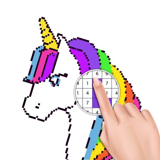 Tek Boynuzlu At Sayılarla Boyama Piksel Sanatı Google