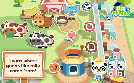 Dr. Panda Farm App per Android screenshot